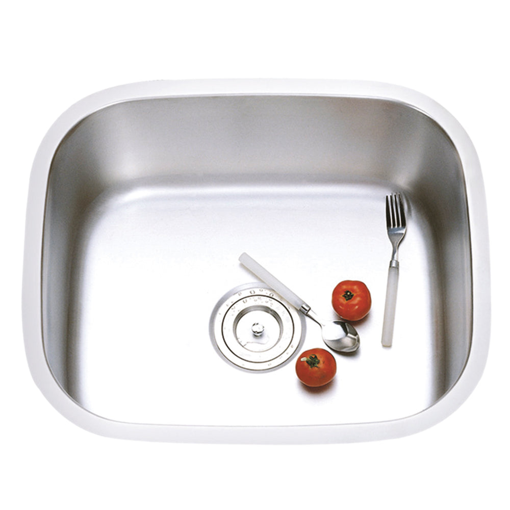 Stainless Steel Single Basin Sink, Rounded