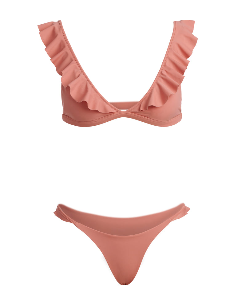 showing pink blush bikini without model front side view