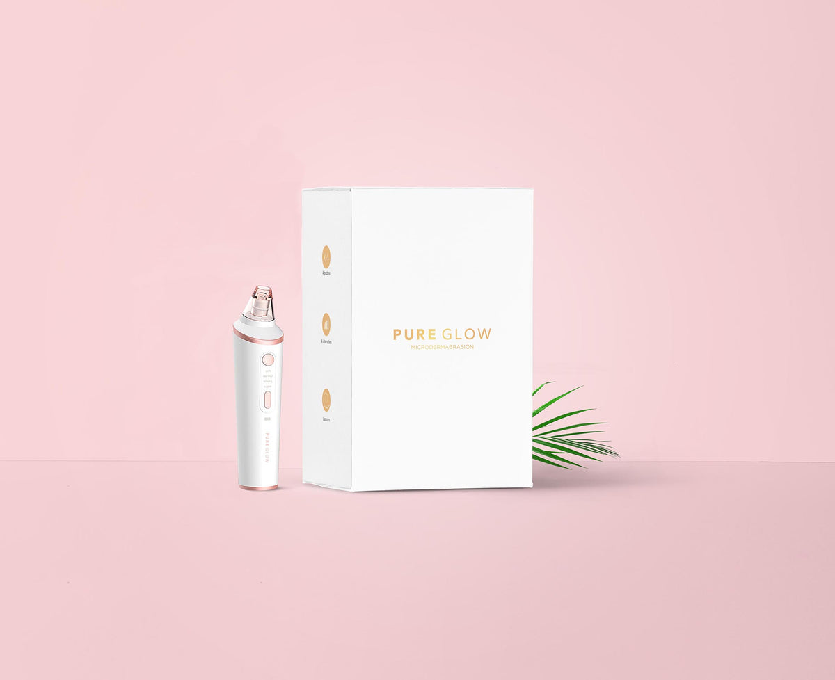 PURE GLOW Microdermabrasion Device/Blackhead Removal Vacuum