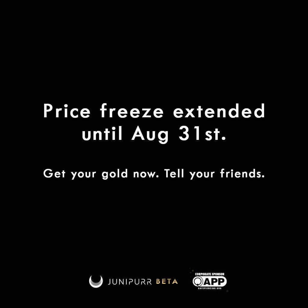 Prize Freeze EXTENDED until August 31st!!