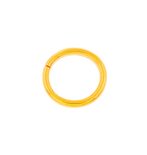 Plain Gold Seam Ring in Yellow Gold