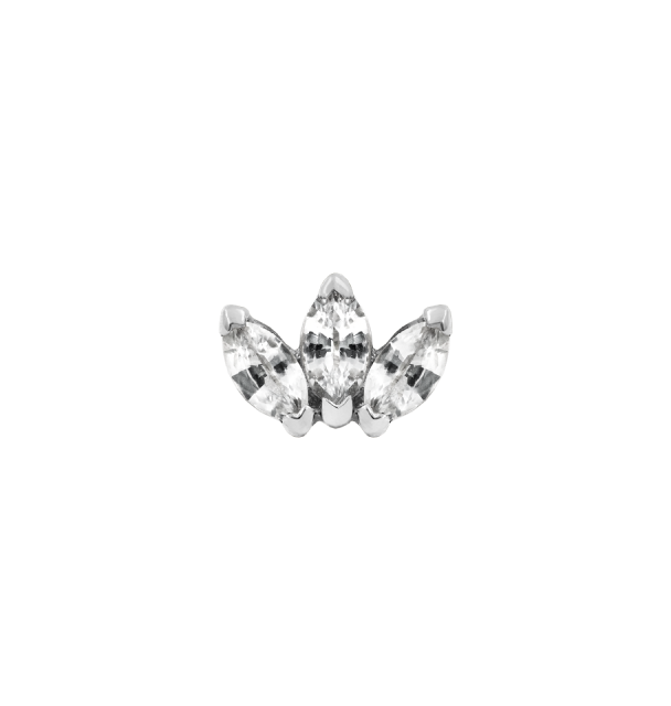 Triple Marquise (CZ) in White Gold