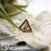 Gold Triangle with Swarovski CZ stone