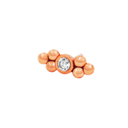 Bezel-Set CZ Double Tri-Bead - Junipurr Jewelry