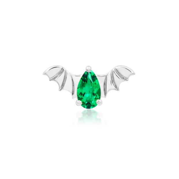 Bat with Emerald CZ