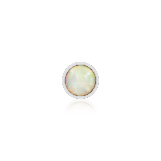 Bezel-set cup with Opal - Junipurr Jewelry