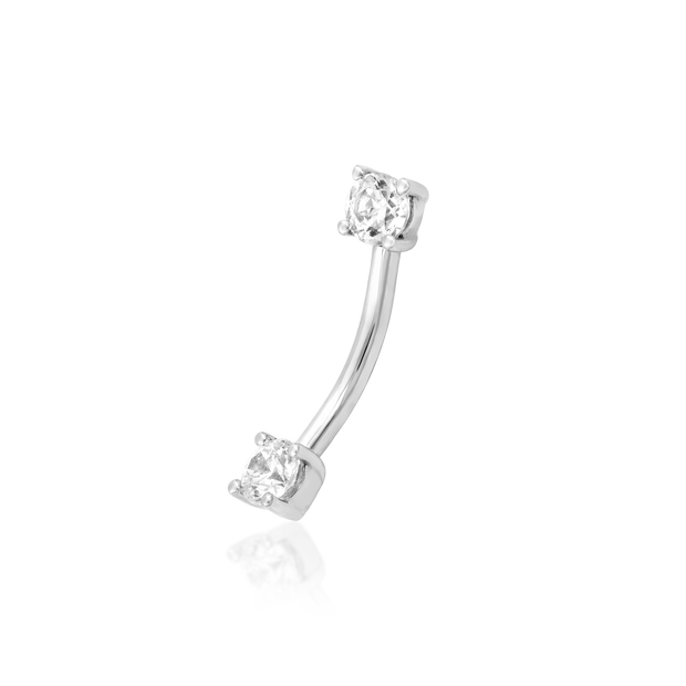 Empress Curved Gem Barbell (Internally Threaded)