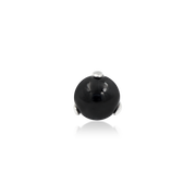 Prong-Set Ball with Black Onyx - Junipurr Jewelry