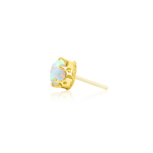 Crown-Set with Opal - Junipurr Jewelry