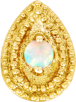 Pear Opal Double Millgrain - Junipurr Jewelry