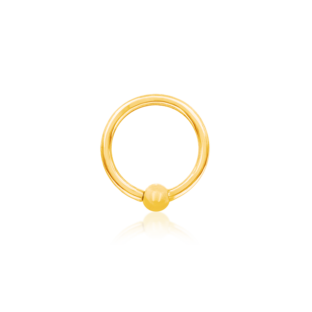 Gold Ring with Fixed Bead