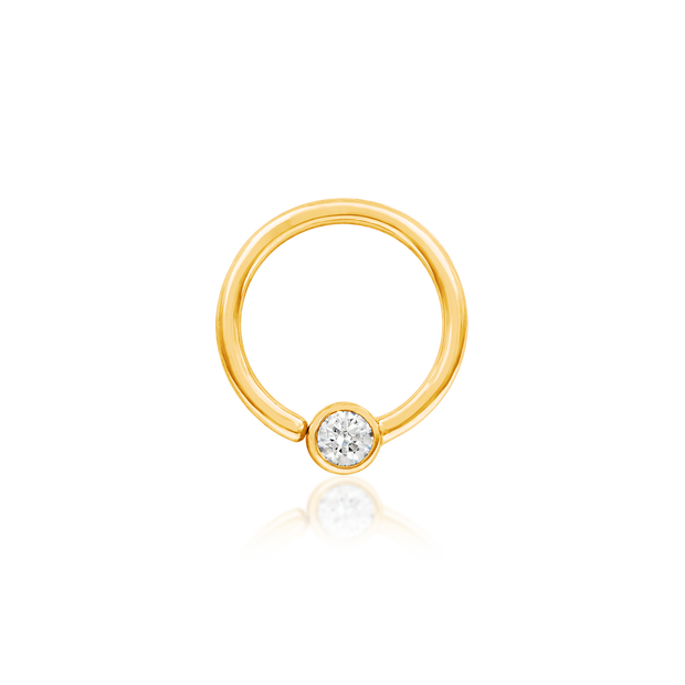 Gold Ring with Fixed Swarovski