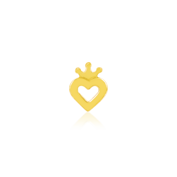Gold Heart with Crown