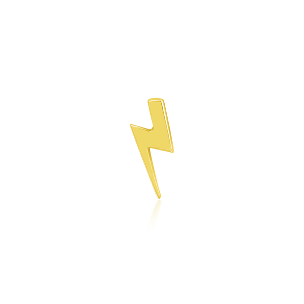Gold Lightning Bolt - Junipurr Jewelry