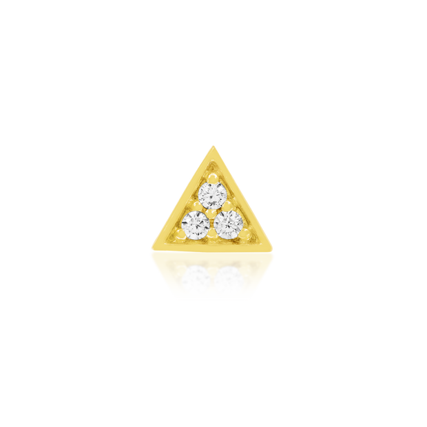 Gold Triangle with 3 Swarovski CZ stones - Junipurr Jewelry