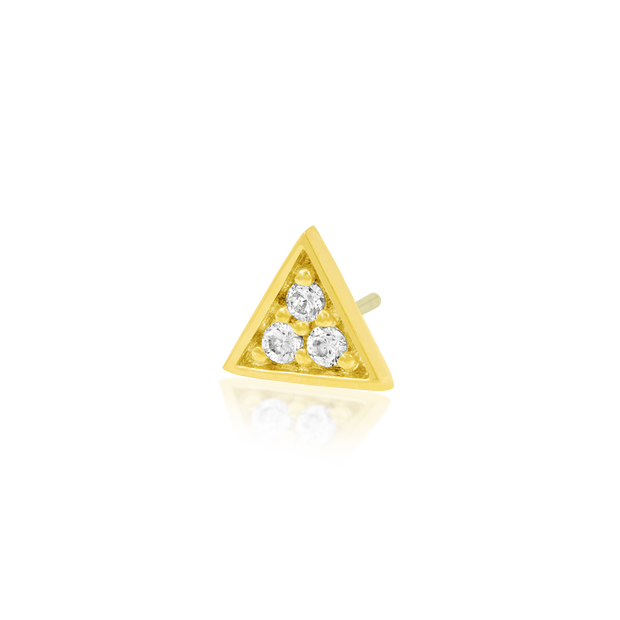 Gold Triangle with 3 Swarovski CZ stones