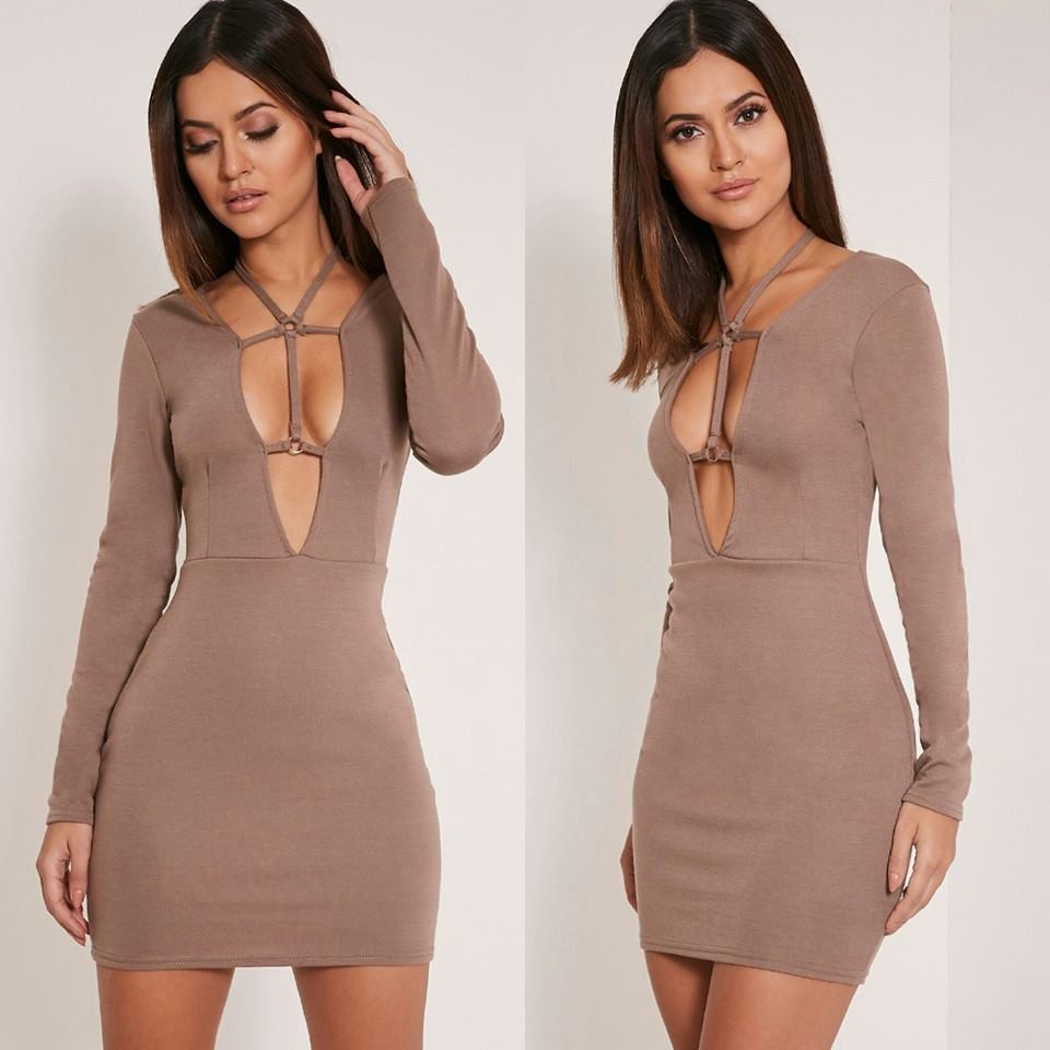 Strappy Longsleeved Dress (Sale)