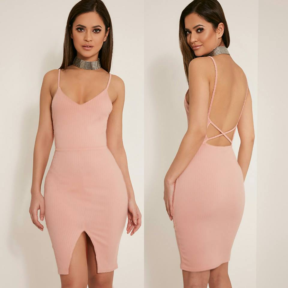 Ariana Strappy Backless Dress