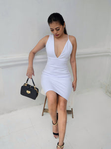 PURE ENVY Assymetric Strap Dress