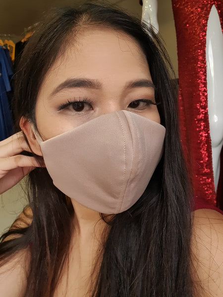 Stylish Washable Face Mask with Filter Pocket and Adjustable Strap