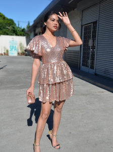 Nathalia Frill Sequined Dress