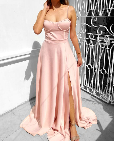 Bustier Sweep Train Ball Gown
