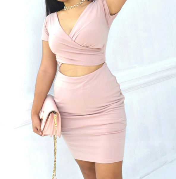 Shae Wrap Cut Out Dress
