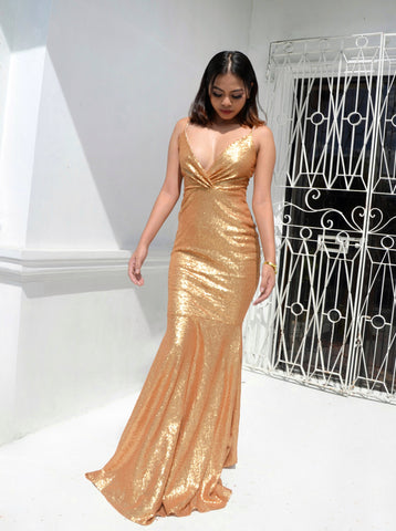 Dream Sparkle Wrap Mermaid Maxi Dress
