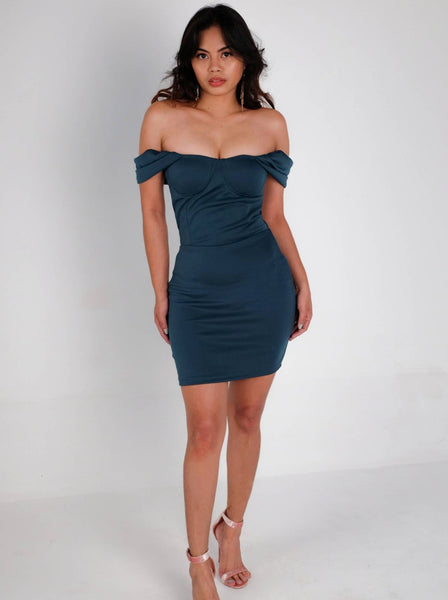 Cayden Off-the-Shoulder Bustier Dress