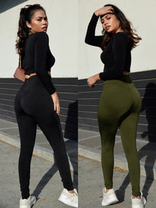 No Limit - Basic Full Length Stretch Leggings