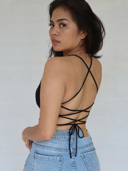 Krista Strappy Backless Croptop
