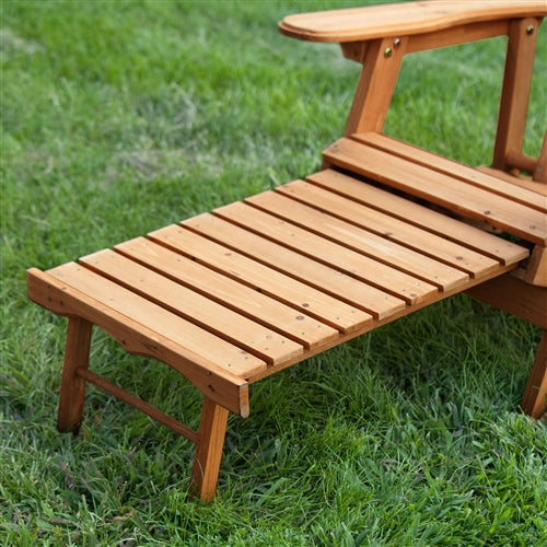 Awe Inspiring Outdoor Adirondack Chair Recliner With Slide Out Ottoman In Kiln Dried Fir Wood Gmtry Best Dining Table And Chair Ideas Images Gmtryco