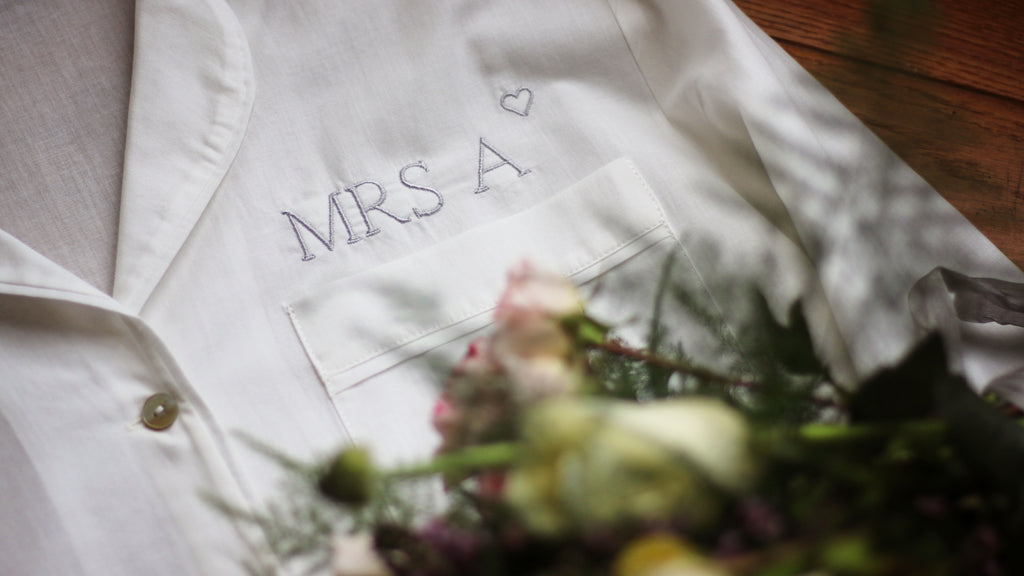 Personalised bridal pyjamas for weddings