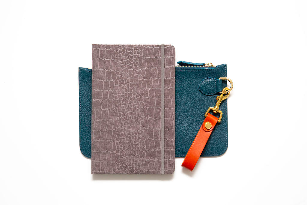 Personalised Leather Notebook, Pouch and Keyring