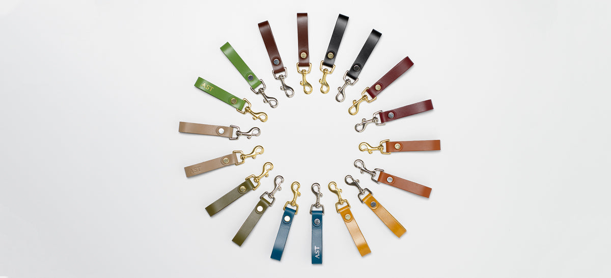 Various colors of Equestrian Keyring
