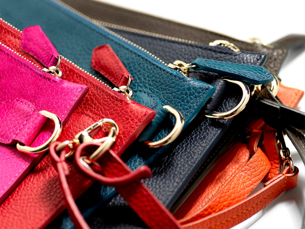 Personalised Leather Wristlet pouch Bags