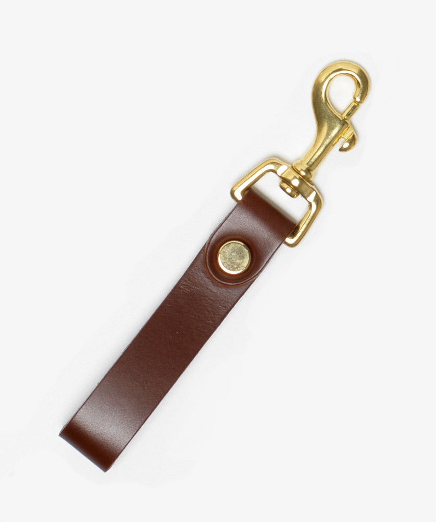 The Equestrian Keyring with Brass Hardware in Conker