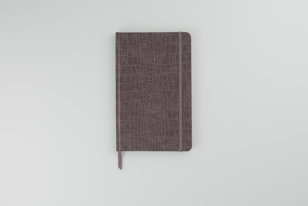 The Mock Croc Notebook Silver Birch