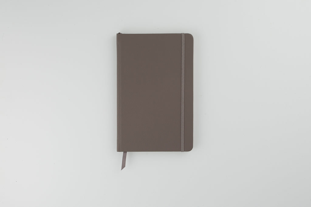 The Luxury Leather Notebook Silver Birch