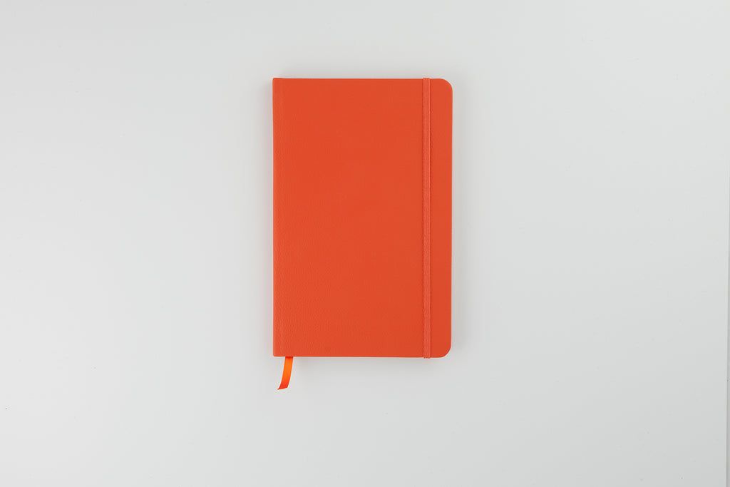 The Luxury Leather Notebook Tangerine