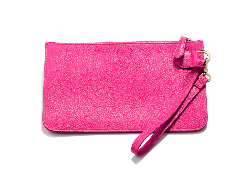 Personalised Leather Wristlet Pouch Bag