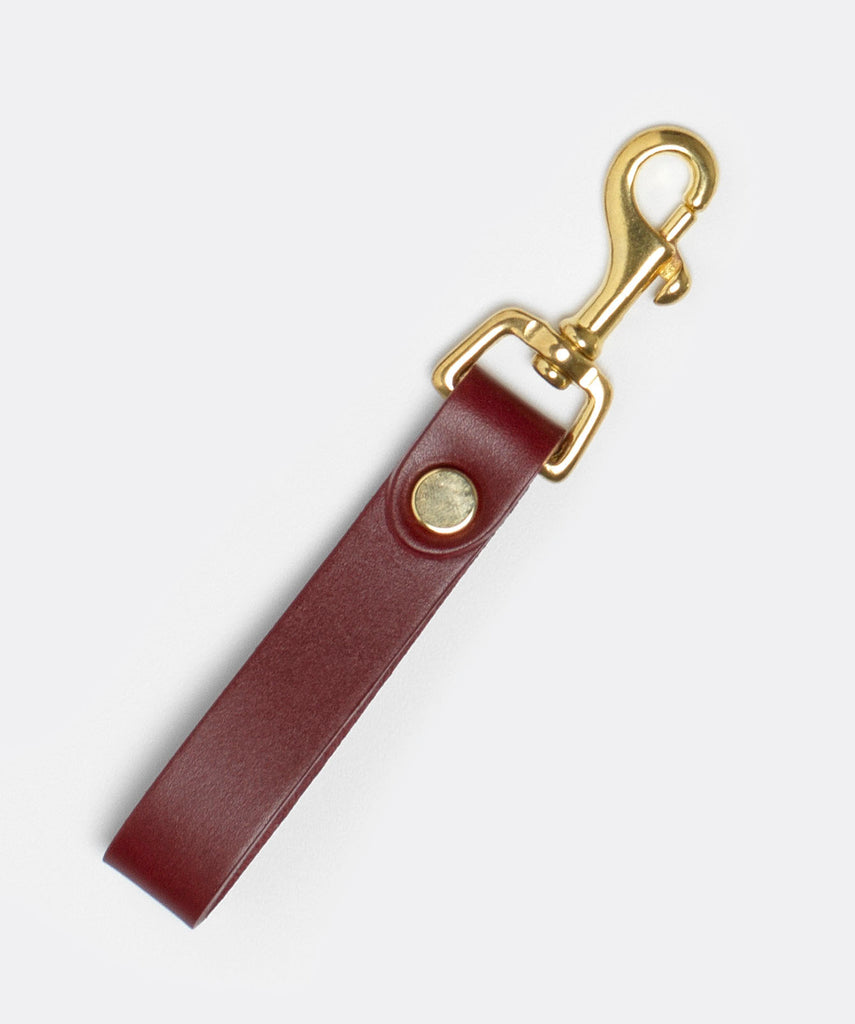 The Equestrian Keyring with Brass Hardware in Oxblood