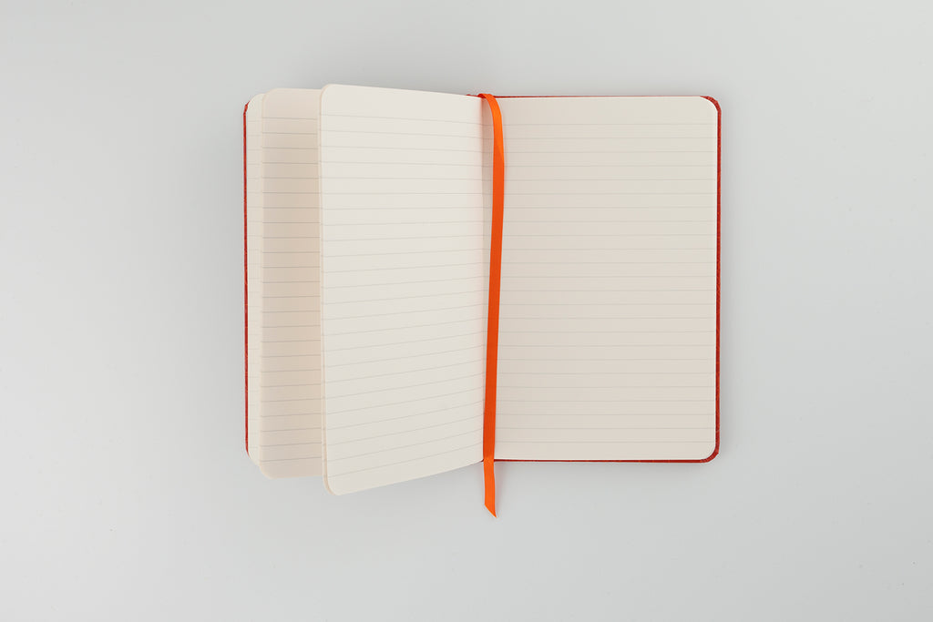 The Mock Croc Notebook Tangerine
