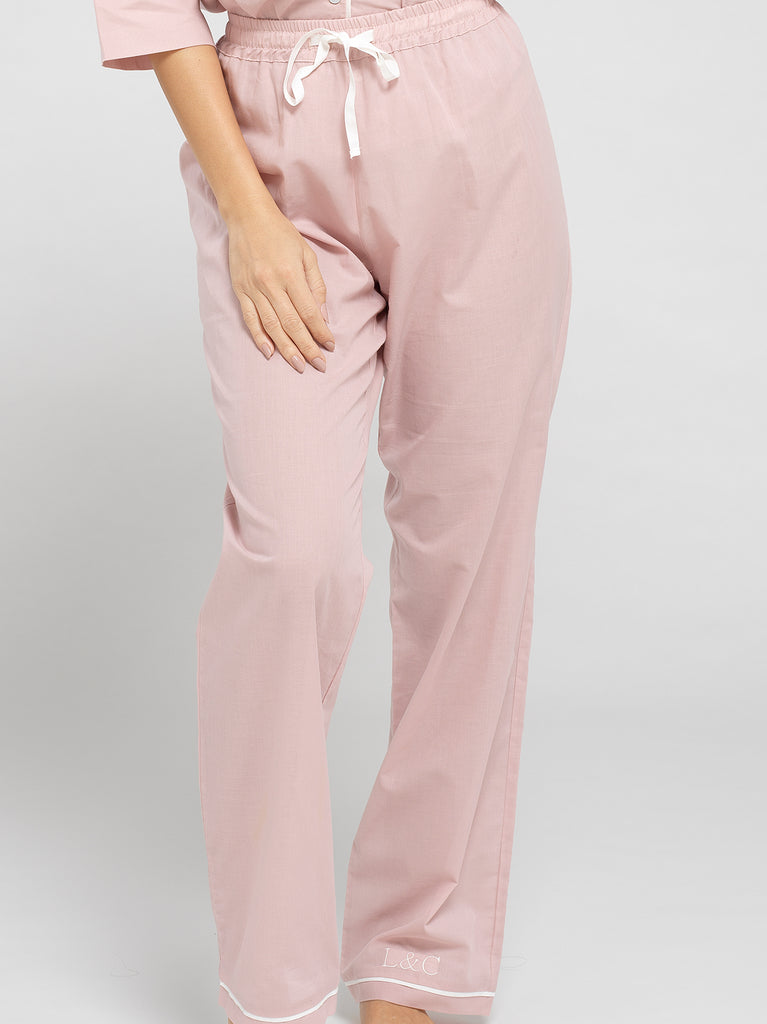Women's Personalised Long Pyjama Bottoms