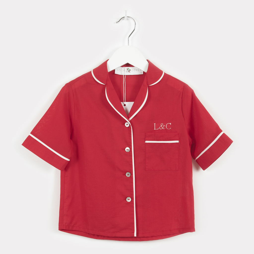 Rose Red Luxury Monogrammed Children's Pyjamas | Look & Cover