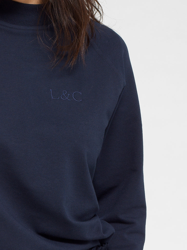 Midnight Blue Luxury Monogrammed Women's Loungewear Sweat | Look & Cover