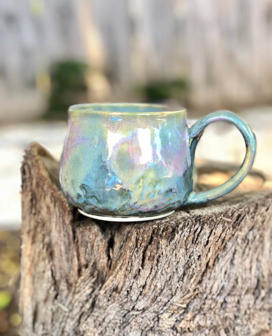 Opal Mug N° 3 - Dreamy Soft Multi Color Ceramic Mug 12 oz - Hsiaowan Studios Handmade Ceramics Pottery