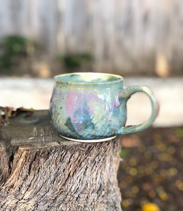 Opal Mug N° 4 - Dreamy Soft Multi Color Ceramic Mug 12 oz - Hsiaowan Studios Handmade Ceramics Pottery