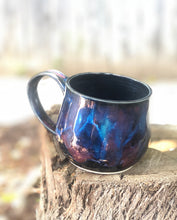 Load image into Gallery viewer, Dark Opal  - Multi Color Ceramic Mug 13 oz - Hsiaowan Studios Handmade Ceramics Pottery