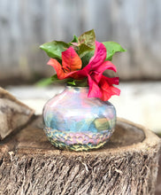 Load image into Gallery viewer, Dreamy Soft Multi Color Flower Bud Vase, Mini Vase - Hsiaowan Studios Handmade Ceramics Pottery